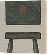 Footstool Wood Print