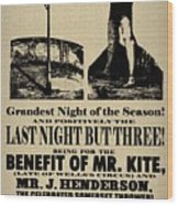 For The Benefit Of Mr Kite Wood Print by Bill Cannon