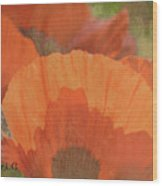 For The Love Of Poppy Wood Print