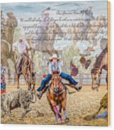 For The Love Of Rodeo II Wood Print