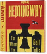For Whom The Bell Tolls Book Cover Poster Art 1 Wood Print