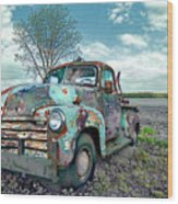 For Whom The Truck Tows Wood Print
