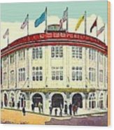Forbes Field Baseball Stadium In Pittsburgh Pa In 1910 Wood Print