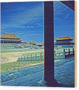 Forbidden City Porch Wood Print