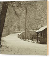 Forbidden Drive In Winter Wood Print