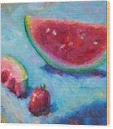 Forbidden Fruit Wood Print by Talya Johnson