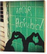 Forbidden Love Wood Print