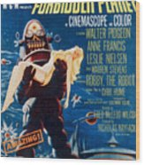 Forbidden Planet, Left Robby The Robot Wood Print