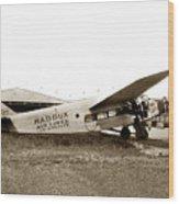 Ford 4-at-a Maddux Air Lines Los Angeles Circa 1928 Wood Print