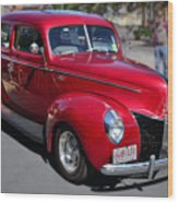 Ford 40 In Red Wood Print