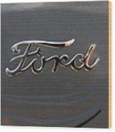 Ford Antique Auto Emblem Wood Print