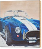 Ford Cobra In Oil Wood Print