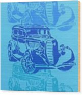 Ford Coupe 34 Wood Print