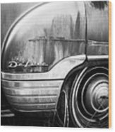 Ford Deluxe Fender Black And White Wood Print