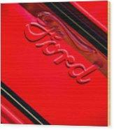 Ford Emblem -0841c Wood Print