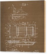 Ford Engine Lubricant Cooling Attachment Patent Drawing 1a Wood Print
