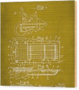 Ford Engine Lubricant Cooling Attachment Patent Drawing 1d Wood Print