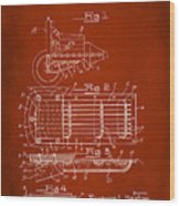 Ford Engine Lubricant Cooling Attachment Patent Drawing 1g Wood Print