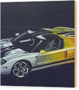 Ford Gt Concept Wood Print