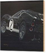Ford Gt40 Racing Wood Print