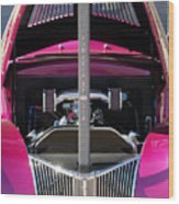 Ford Hot Rod Grille Wood Print