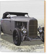 Ford Hot Rod Roadster Wood Print