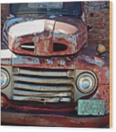 Ford In Goodland Wood Print