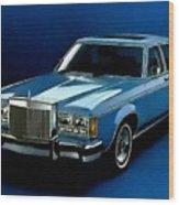 Ford Lincoln Versailles 1981 - American Dream Cars Catus 1 No. 2 H B Wood Print