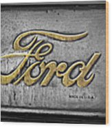 Ford Made In The Usa Wood Print