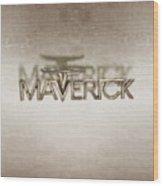 Ford Maverick Badge Wood Print