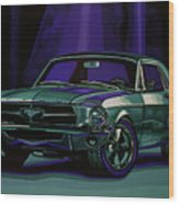 Ford Mustang 1967 Painting Wood Print