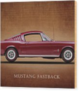 Ford Mustang Fastback 1965 Wood Print