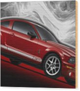 Ford Mustang Gt 500 3 Wood Print