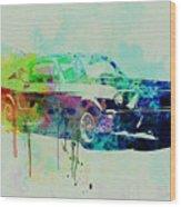 Ford Mustang Watercolor 2 Wood Print
