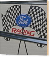 Ford Racing Emblem Wood Print
