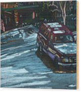Ford Range In The Snow Wood Print
