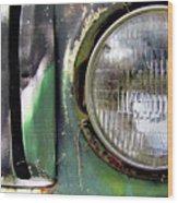 Ford Retro Truck Detail 1 Wood Print