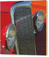 Ford Roadster Grille Wood Print