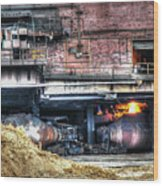 Ford Rouge Plant Steelmill Wood Print