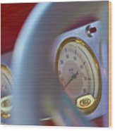 Ford Speedometer Wood Print