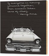Ford Success Poster Wood Print