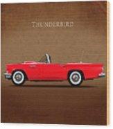 Ford Thunderbird 1957 Wood Print