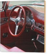 Ford Thunderbird 57 Interior Wood Print