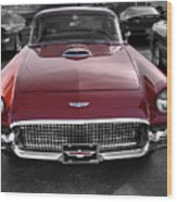 Ford Thunderbird Red V1 Wood Print
