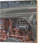Ford Tractor Antique Wood Print