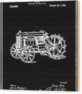 Ford Tractor Patent 1919 Black Wood Print