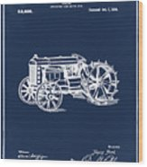 Ford Tractor Patent 1919 Wood Print