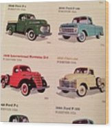 Ford Truck Stamps Wood Print