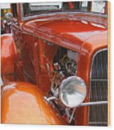 Ford V8 Right Side View Wood Print
