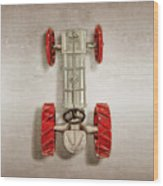 Fordson Tractor Top Wood Print